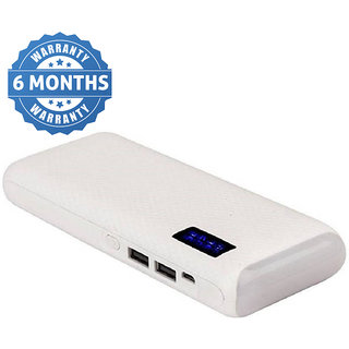 Hamine Top Light With Percentage fast charge 20000 MAh Power Bank (white)