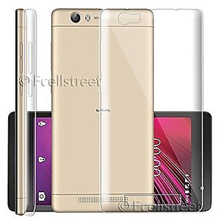 ECS Transparent Soft Back Case Cover For Lava A77