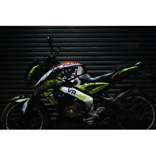 CR Decals Pulsar Ns 200/160 Full Body Wrap Custom Decals Vr 46 Shark 46 Project Kit for Bike - 10 inches(25.4 cm)