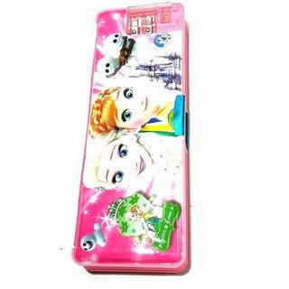 Smart Kidz Princess Pencil Box With Torch (Set of 1 Pink)