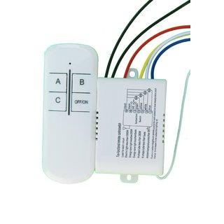 3 Ways Wireless Smart Lamp Light RF Remote Control Switch Module + Controller