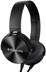 Digimate MDR-XB450 Wired Extra Bass On-Ear Headphones with 3.5mm Jack, Headset with Mic for Phone Calls