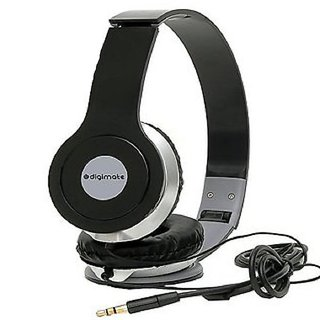 Digimate Wired Over The Ear Headphone With Noise Cancellation And Powerful Bass