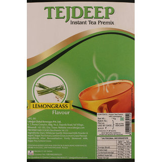 Tejdeep Lemongrass Flavour Instant Tea Premix 1 kg Premix Tea for Vending Machine Ready to drink tea
