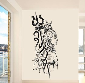 Wall Dreams Black Lord Shiva Religious Inspirational Vinyl Wall Sticker
