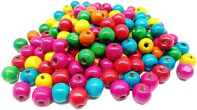 Vardhman Jewelry Multicolored Wooden Beads 10mm, pack of 180 beads