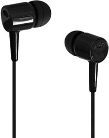 KSJ High Bass Best Sound In-Ear Earphone Without Mic Compatible With All 3.5mm jack - Black