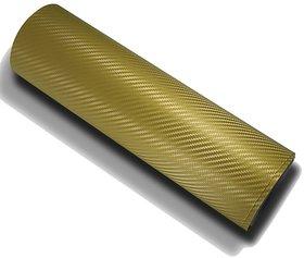 12x24 3D Golden Carbon Fiber Vinyl Car Wrap Sheet Roll Film Sticker Decal