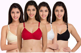 Candy by women padded seamless bra pack of 4