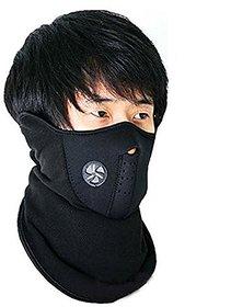 Generic Unbranded - Neoprene Half Face Bike Riding Mask Black Set Of 1 B