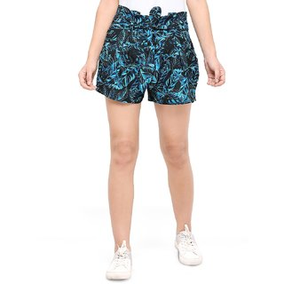 Smarty Pants Floral Printed Short for Women's