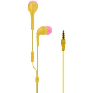 KSJ J9 Earphone With Mic and Tangle Free Wire - Assorted Colors