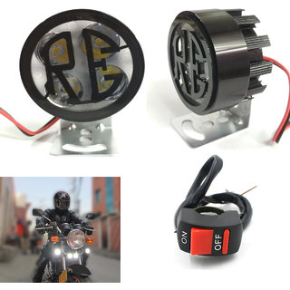 Motorcycle 2x 4 LED Work Light/Driving Fog Spot Lamp for Universal