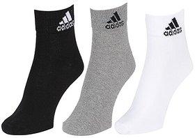 Adidas Unisex Ankle Socks  - 3 Pairs