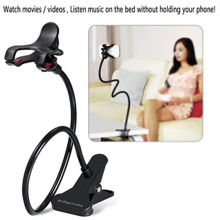 Digimate Universal Flexible Long Lazy Mobile Phone HolderStand For Bed Desk Table (Assorted Color)