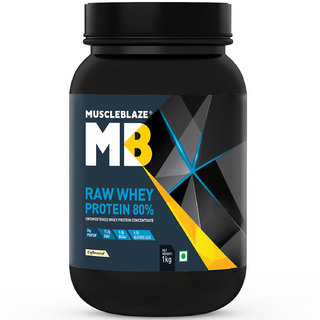 MuscleBlaze Raw Whey Protein - 2.2 lb/ 1 kg33 Servings (Unflavoured)