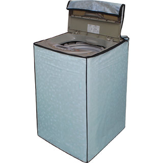 Dream Care Sky Blue Printed Washing Machine Cover for Fully Automatic Top Loading 5kg to 6kg