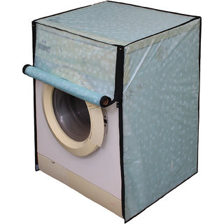Dream Care Sky Blue Printed Washing Machine Cover for Fully Automatic Front Loading 5kg to 6kg