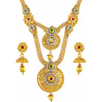 Asmitta Beguiling Gold Plated Opera Style Necklace Set For Women