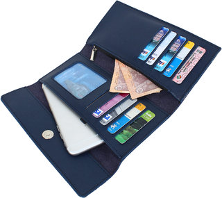 Dyme Imported Women Designer Wallet Black/Brown/Blue/Pink/Grey/Tan Ladies Clutch