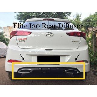 Hyundai Elite i20 rear dual exhaust diffuser