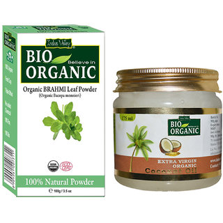Extra Virgin Coconut Oil And Organic Brahmi Powder