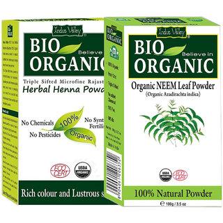 Buy Organic Neem Hair Regrowth Treatment Dandruff Herbal Henna