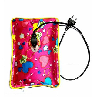 Max Pluss Warm Bag Electric Heating Gel Pad Rechargeable Portable Hot Water Bag For Pain( Assorted Colors and Designs )