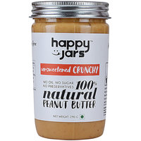 Happy Jars Natural Peanut Butter Pure Peanut Crunchy 220g