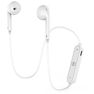 S6 Bluetooth Headset with mic (White)
