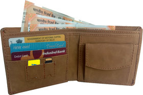 Eagle buzz Genuine leather multi colour wallet 3 Atm card with 1 coin pocket