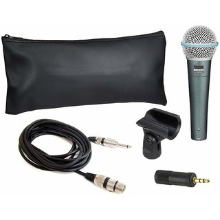 BETA 58A Dynamic Microphone with wire,holder and 3.5 mm jack