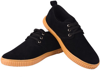 Lishtree men's Black Lace-up causal shoes
