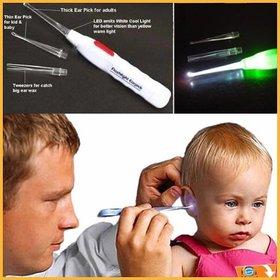 UNIQUE STORE Huda Beauty Safety Flash Light Ear Cleaner Ear Pick Wax Remover Earpick