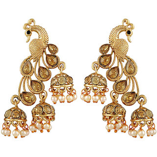 Asmitta Fancy Gold Kundan Gold Plated Jhumki Earring For Women