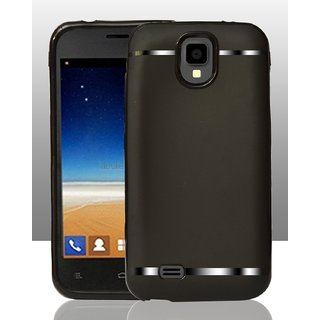 Rubberised 360 Degree Protection Soft Back Cover For Gionee Pioneer P2S - Black