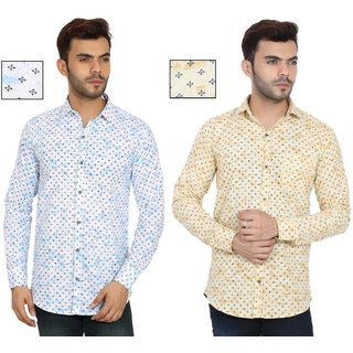 Spain Style Printed Shirts For men Pack Of 2