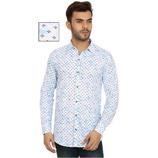 Spain Style White Printed Shirt For men