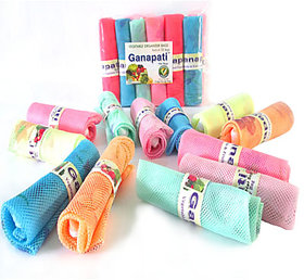Ganapati Fridge Storage Net Bag / A Pack Of 12 Large Size (9.5x15)inches Multipurpose Vegetable  Fruit Organizer Bag