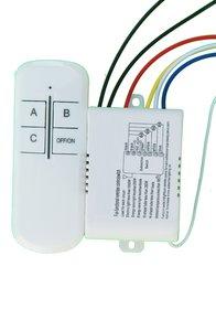 3 Ways Wireless Smart Lamp Light RF Remote Control Switch Module + Controller+ REMOTE SWITCH