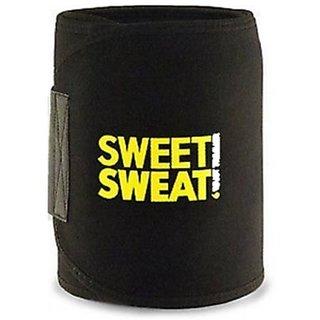 Unisex Sweat Waist Trimmer Fat Burner Belly Tummy Yoga Wrap Black Exercise Body Slim look Belt Free Size SWEAT BELT) CODE-SWEATHZ17