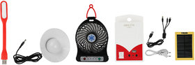 Solar inverter combo with rechargeable fan,bulb,usb light,solarpanel & inverter