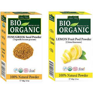 Fenugreek Powder Reducing Signs Of Aging And Lemon Fruit Peel Powder
