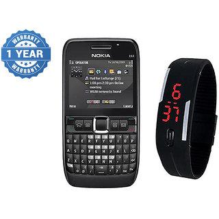 Combo Refurb Nokia E63 + LED Watch | Good Condition | 1 Year WarrantyBazaar Warranty