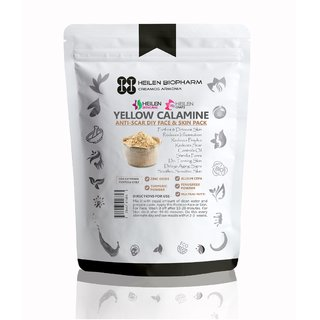 Yellow Calamine (Scar Specialist) Zinc Oxide, Fenugreek, Allium Cepa, Multani Mitti  Turmeric Powder(125 gm)