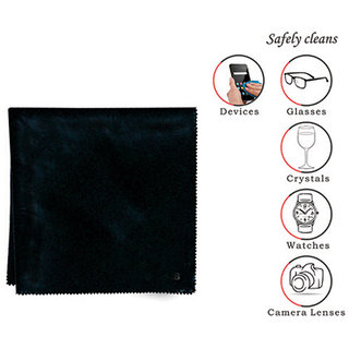 affable Sandsilk Cotton Microfibre Black Cleaning Cloth 14 Cm X 14 Cm.For All Type Of  (Pack Of 20)