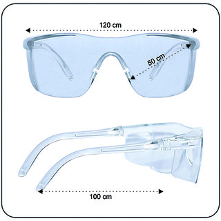 affable Driving Laboratory Lab Technician Safety Industrial White Glasses Eye Protection Clear Glasses  A128  45