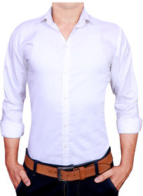 Acro Fly White Solid Shirt For Men