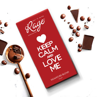 Keep Calm and Love Me Signature Blend Chocolate Bar