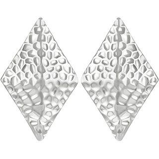 Asmitta Jewellery Silver Plated Silver Zinc Dangle Earrings For Women